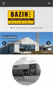 Site Bazin sur smartphone