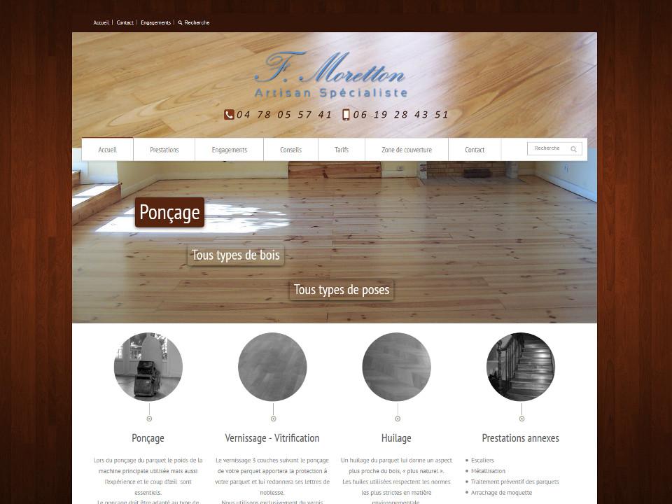 Page d'accueil du site Parquetnet