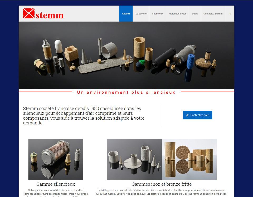 Stemm, conception et vente de silencieux inox et bronze fritté