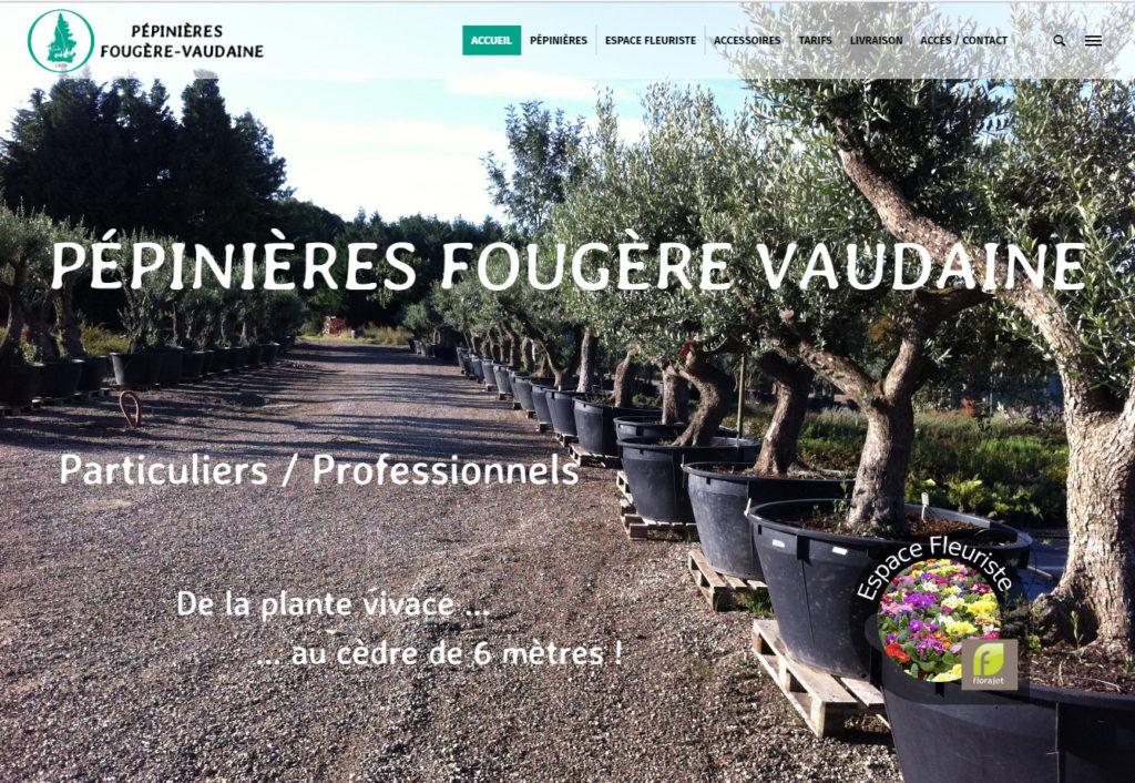 Site Pépinières Fougère Vaudaine
