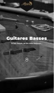 Site Alpine Guitar sur smartphone