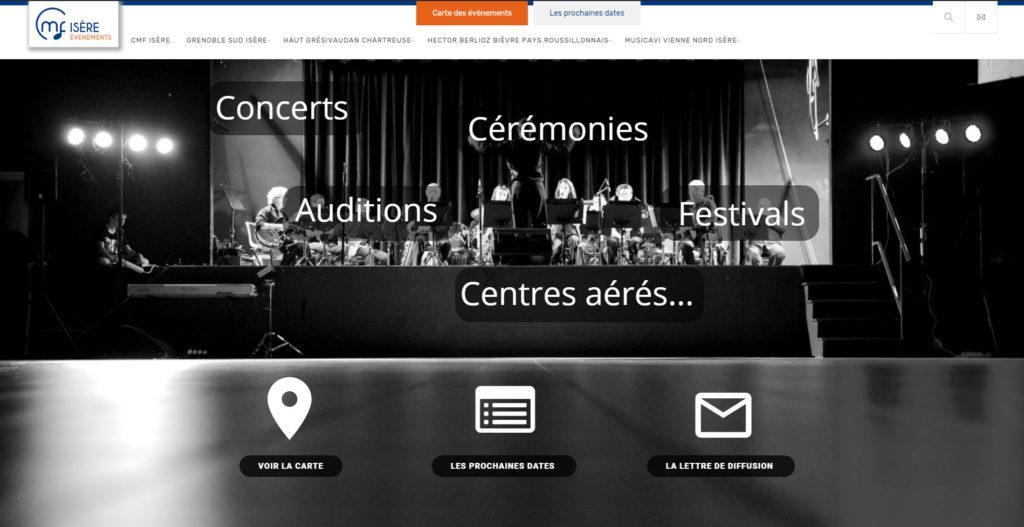 Evenements organisés par les harmonies, batteries fanfares, écoles de musique de la CMF 38
